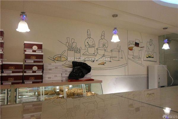 蛋糕店装修墙面简单手绘画效果图