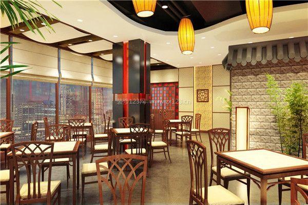 新中式饭店装修店内布置效果图