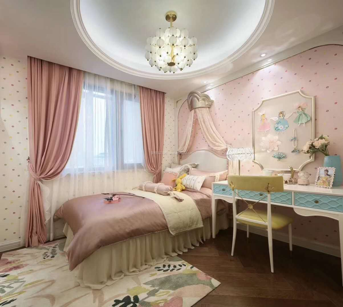 2017法式女生卧室家具梳妆台高清图片图片