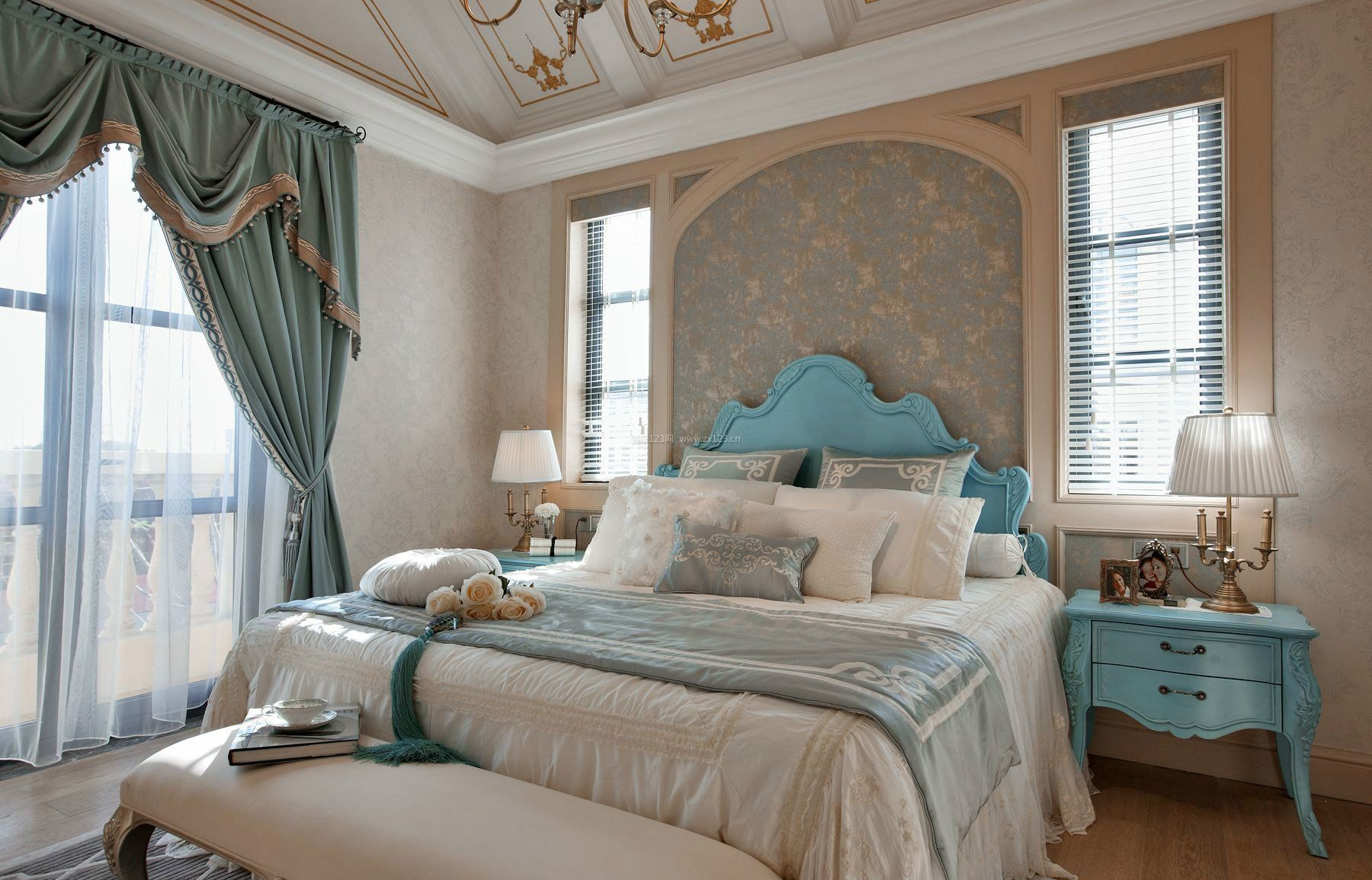 2017法式卧室家具床头柜设计装修高清图片图片