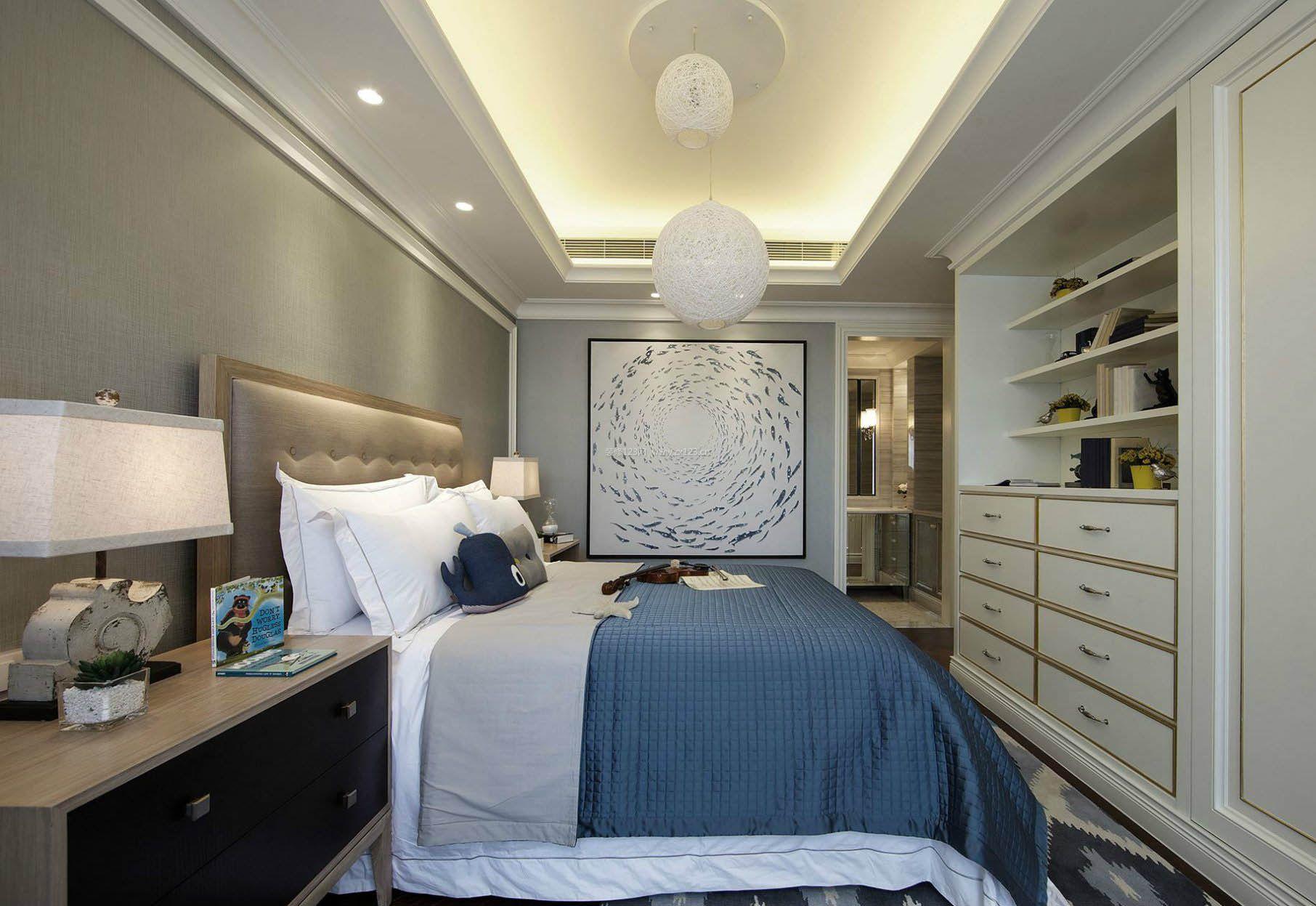 2017法式小户型卧室家具高清图片_装修123效果图图片