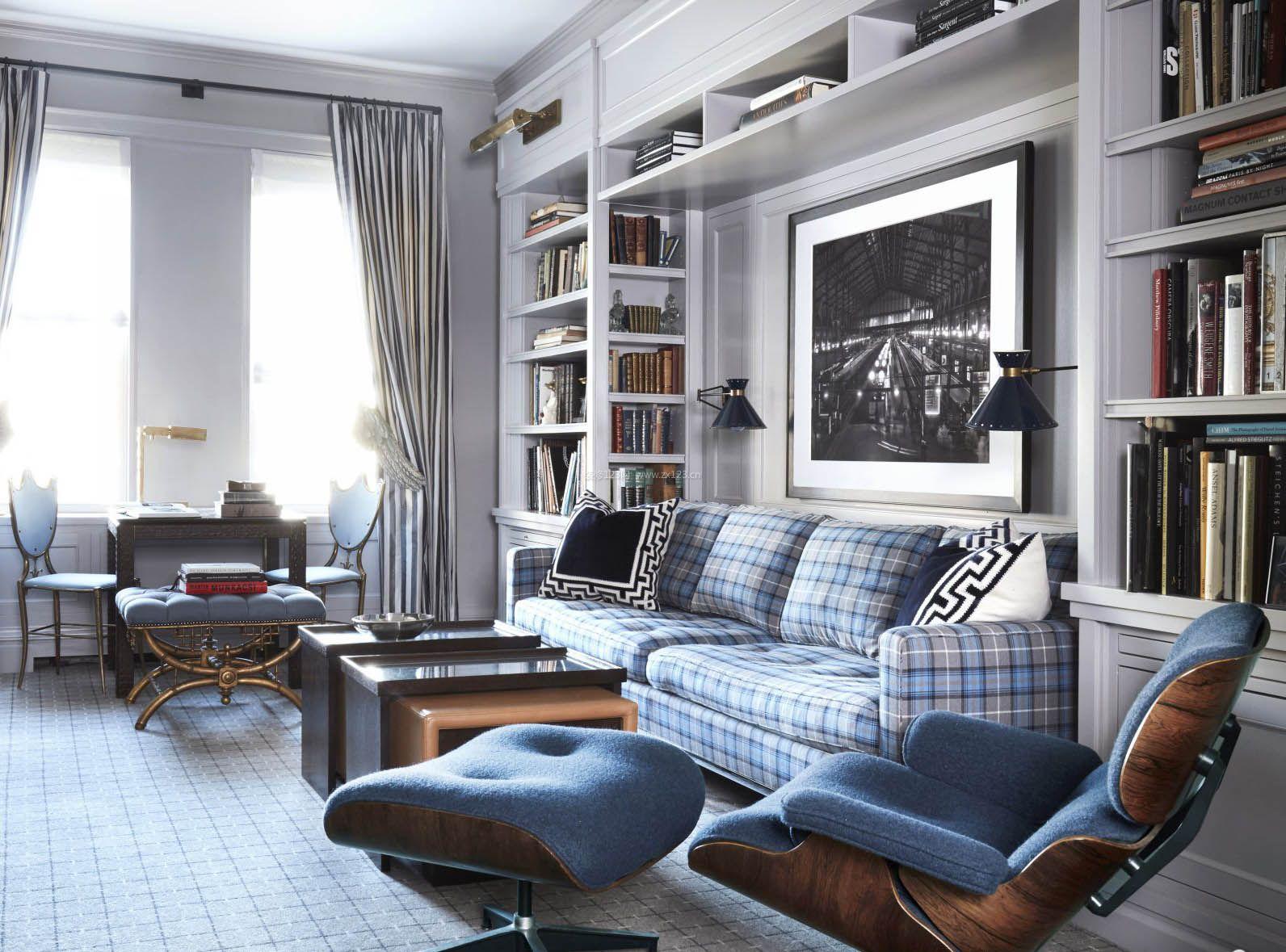 2017家装沙发背景墙收纳柜效果图图片
