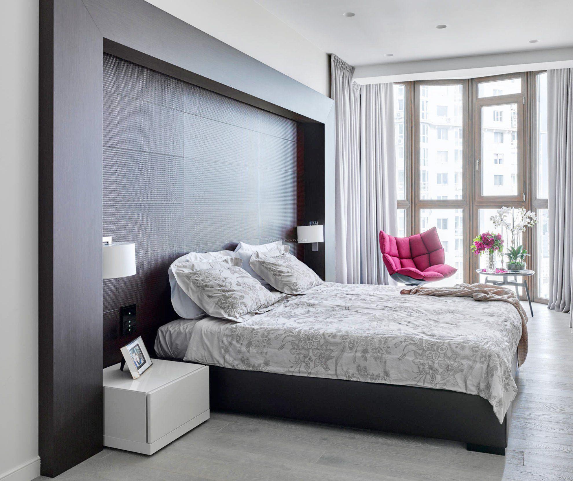 背景墙 床 房间 家居 家具 设计 卧室 卧室装修 现代 装修 1980_1663