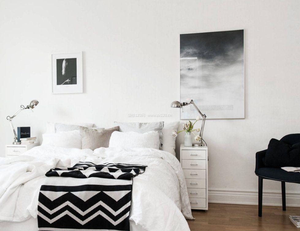 2017黑白灰卧室创意床头柜设计图片