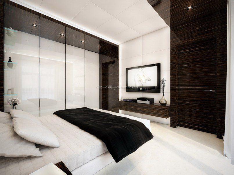 2017黑白灰单身卧室设计图