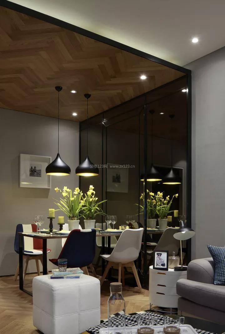 2017现代简约家装设计图 家装餐厅吊顶设计效果图