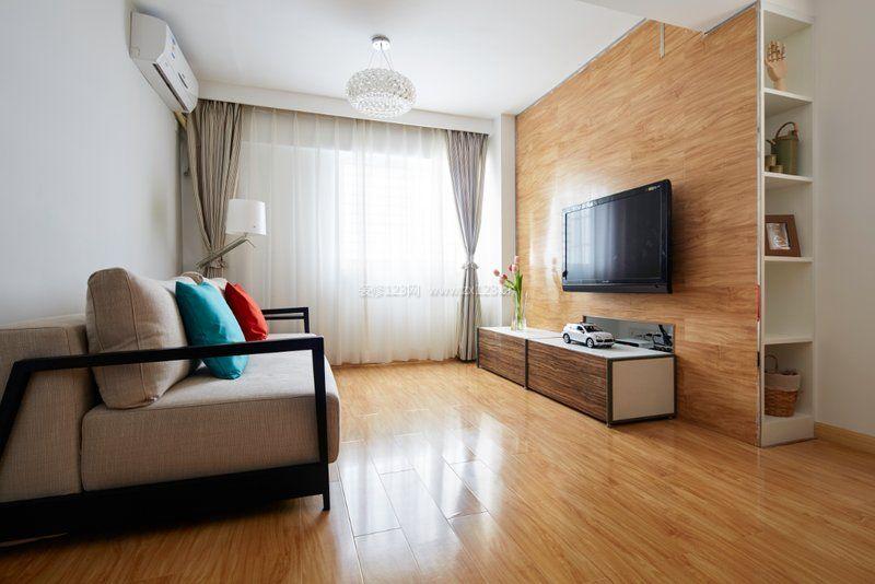 2017日式装修客厅简易电视柜设计图片_装修123效果图