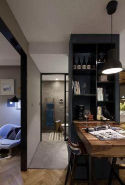 2017现代小户型家居吧台隔断设计装修图片