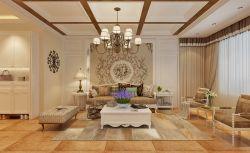 2017简约美式客厅沙发背景墙装修图片欣赏图片