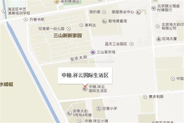 中粮祥云国际生活区交通线路图