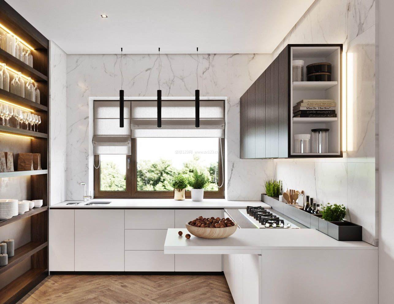 2017极简厨房室内地板贴图欣赏