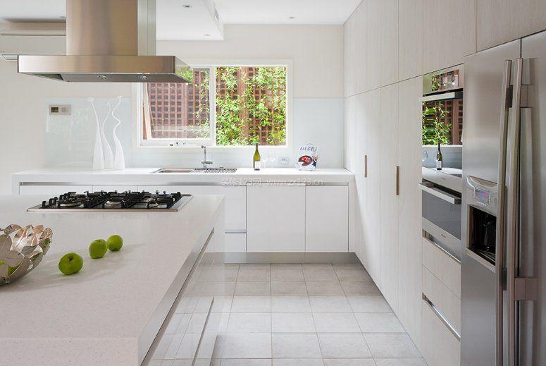 家装效果图 简约 2017简约厨房室内地板装饰贴图欣赏 提供者