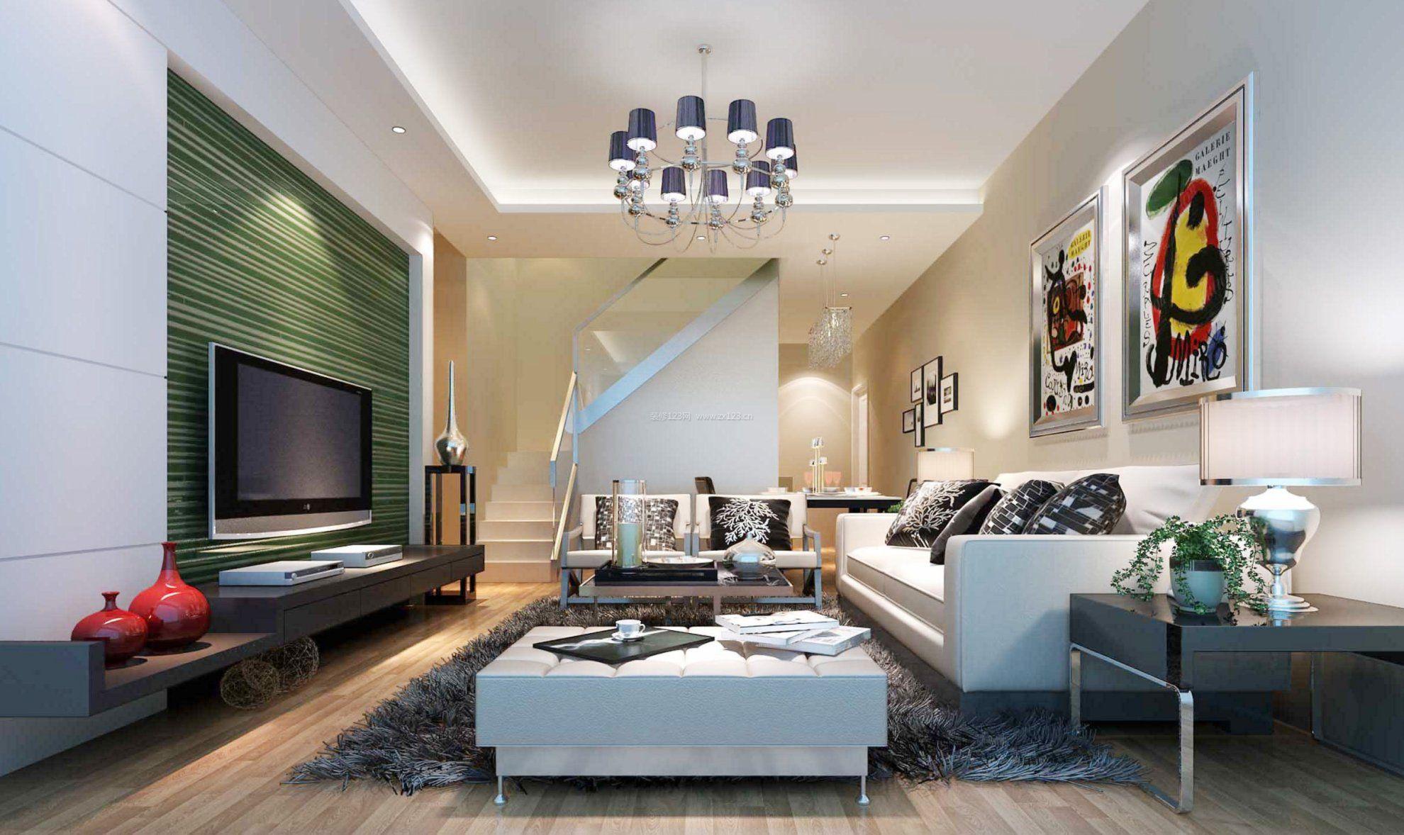 2017时尚风格客厅吊顶沙发装修效果图欣赏