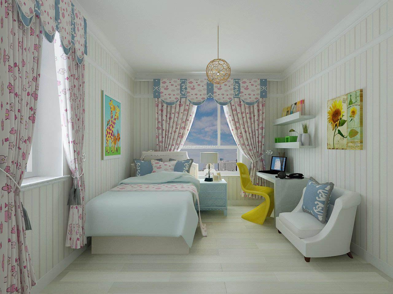 2017公主房窗帘设计3d效果图
