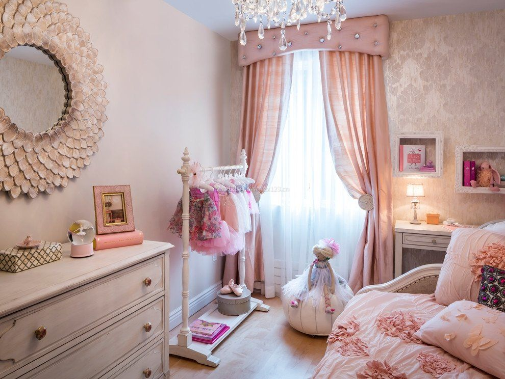 2017公主房欧式窗帘装饰效果图图片