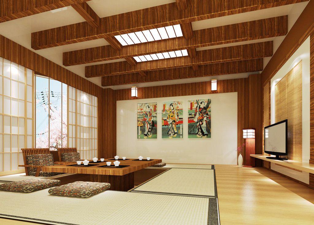 2017日式风格家装室内装修客厅效果图