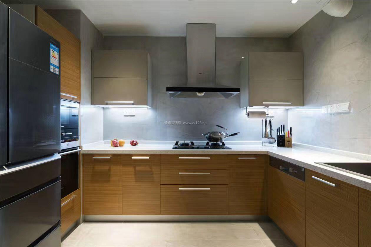 现代北欧风格普通家庭厨房装修效果图片2017