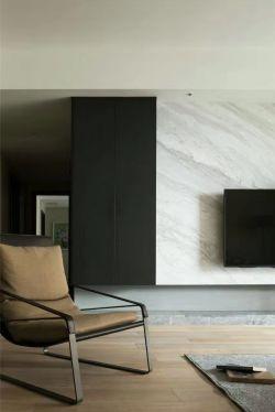 现代北欧风格客厅石材电视背景墙效果图片