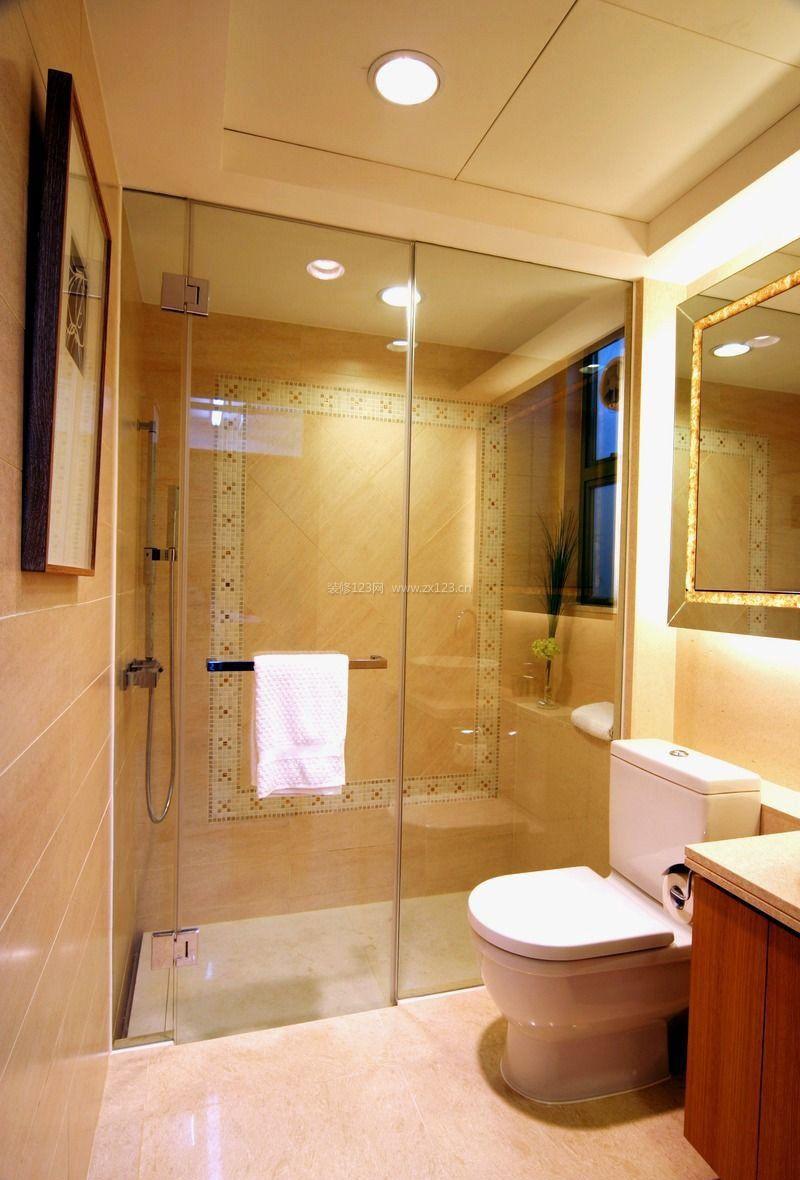 2017家装室内设计小户型浴室玻璃门效果图