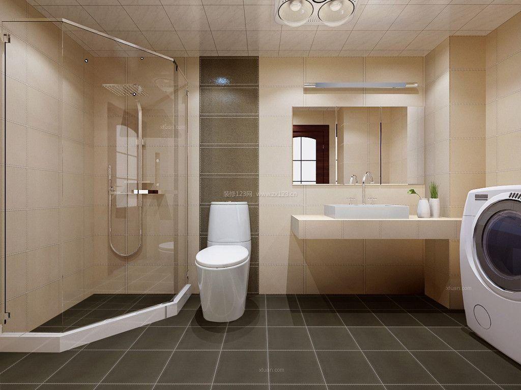 2017小户型浴室玻璃门淋浴房效果图