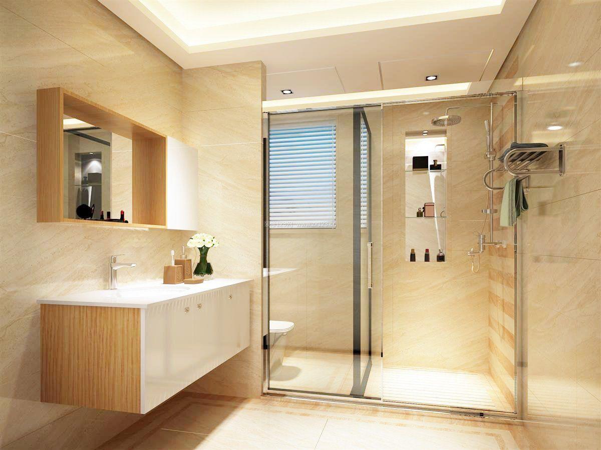 2017小户型浴室玻璃门效果图片大全欣赏