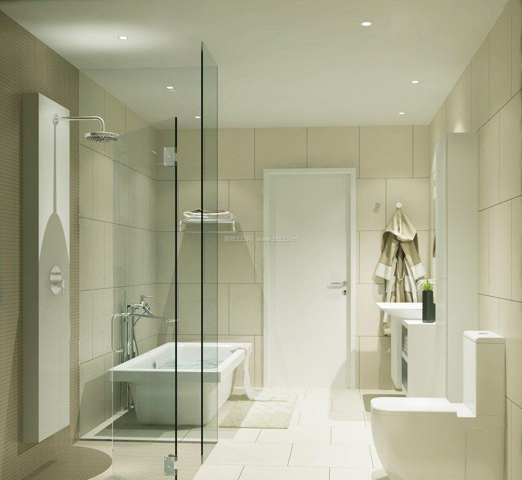2017室内小户型浴室玻璃门效果图赏析