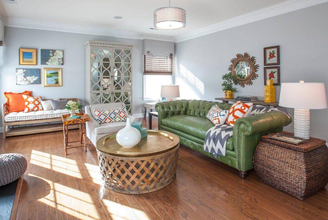 2017时尚客厅设计绿色家居沙发图片