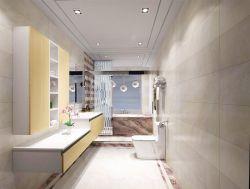 2017小户型浴室玻璃门装修效果图大全图片