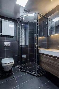2017小户型浴室玻璃门室内家装装修效果图图片