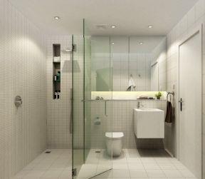 2019磨砂浴室玻璃门图片-装修123网效果图大全