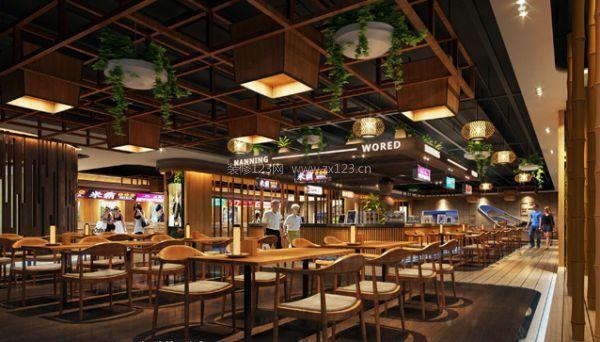 廊坊美食广场设计可参考的效果图
