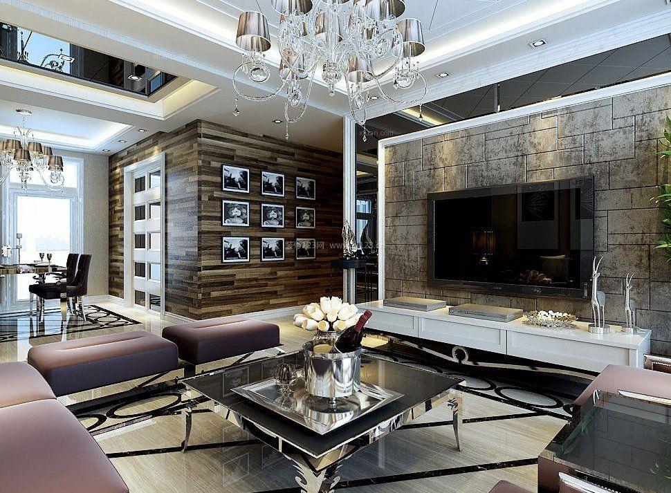 2017港式奢华风格装修客厅效果图