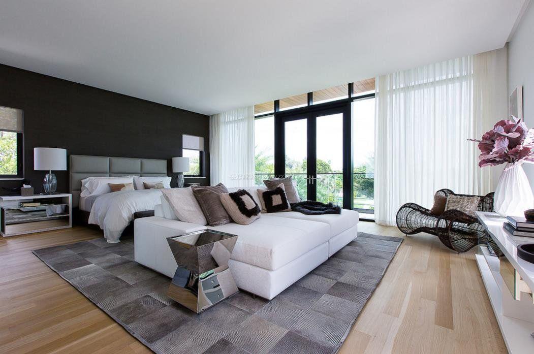 2017黑白灰现代大卧室设计图片