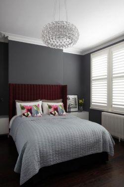 2017黑白灰现代卧室设计效果图片