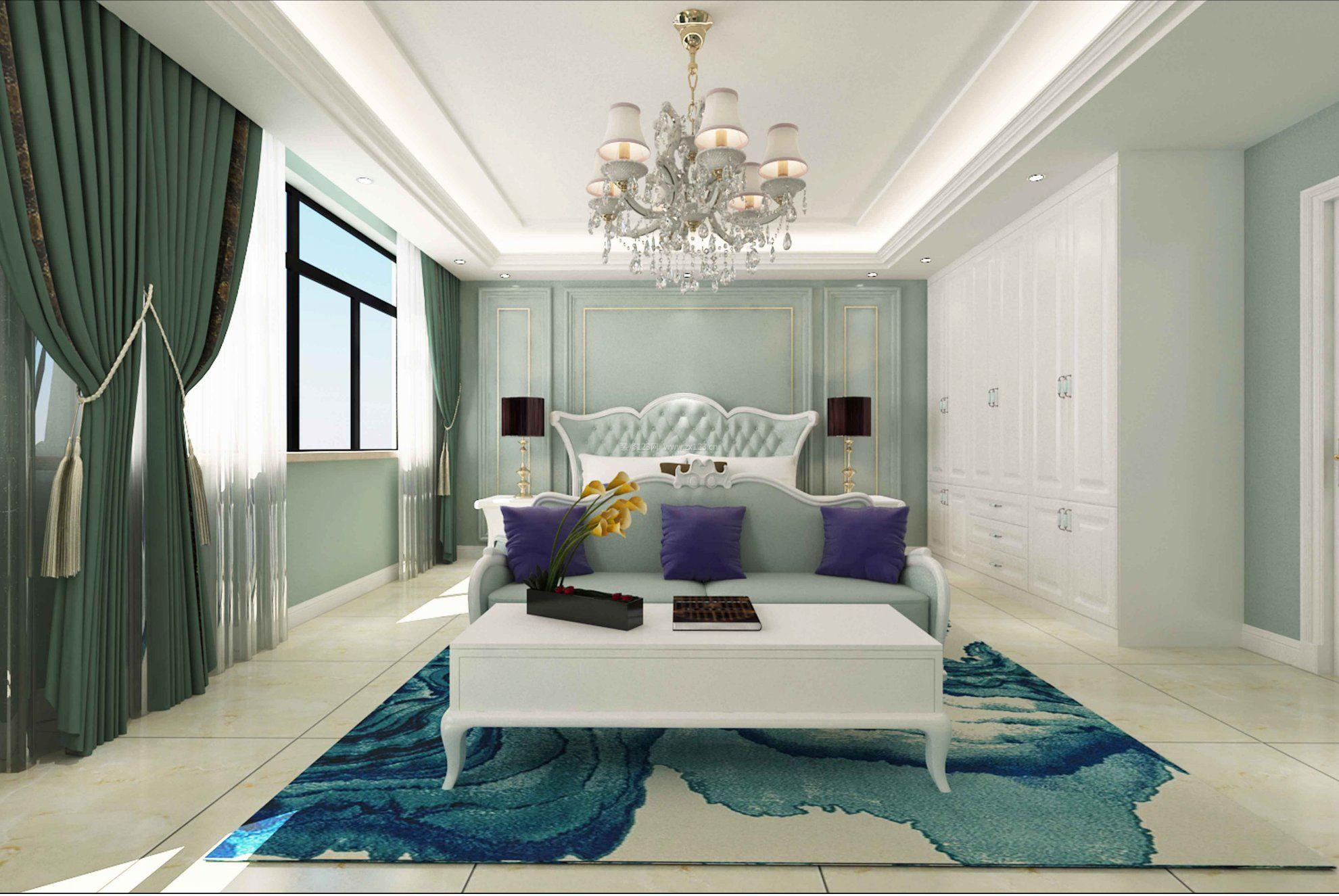 2017欧式卧室欧派衣柜设计3d效果图片