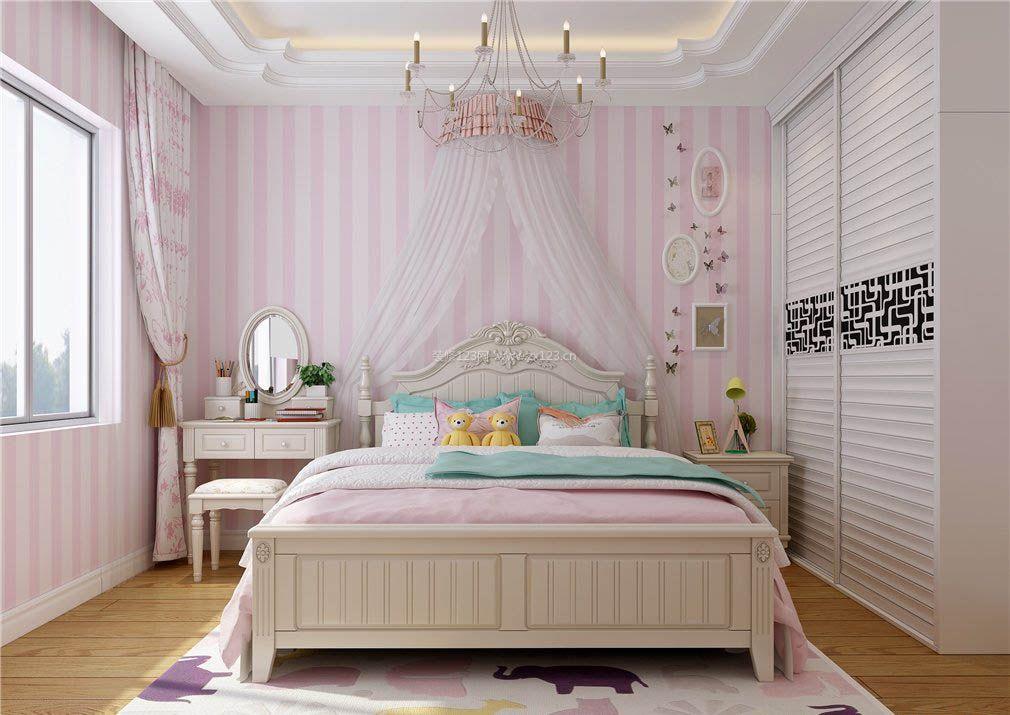 2017温馨女生卧室欧式欧派衣柜图片_装修123效果图图片