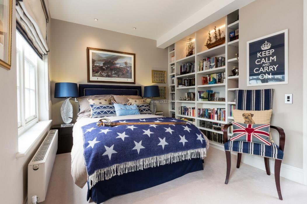 2017美式室内家装卧室隔断设计效果图