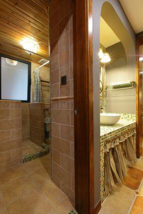 干湿分离卫生间隔断装修效果图片-美容院店面装修风格装修效果图片