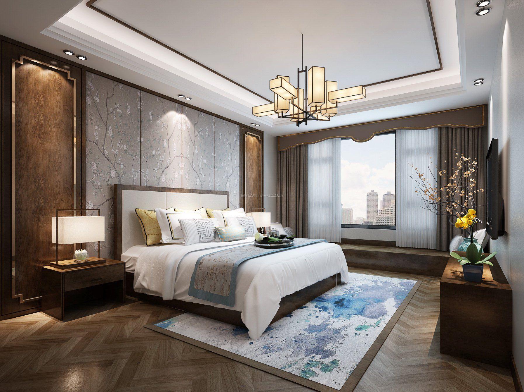 2017中式别墅家庭室内吊灯设计_装修123效果图