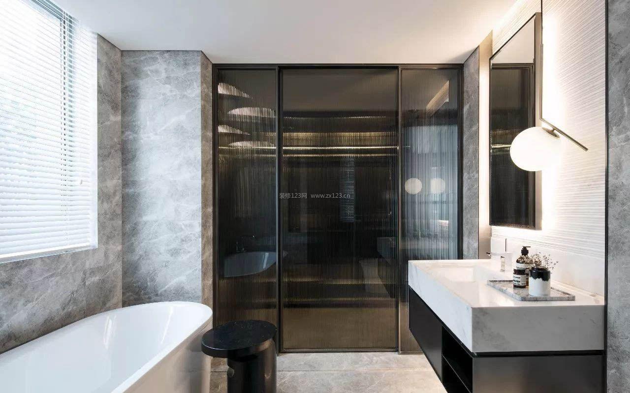 2017现代风格家装室内浴室面盆图片_装修123效果图