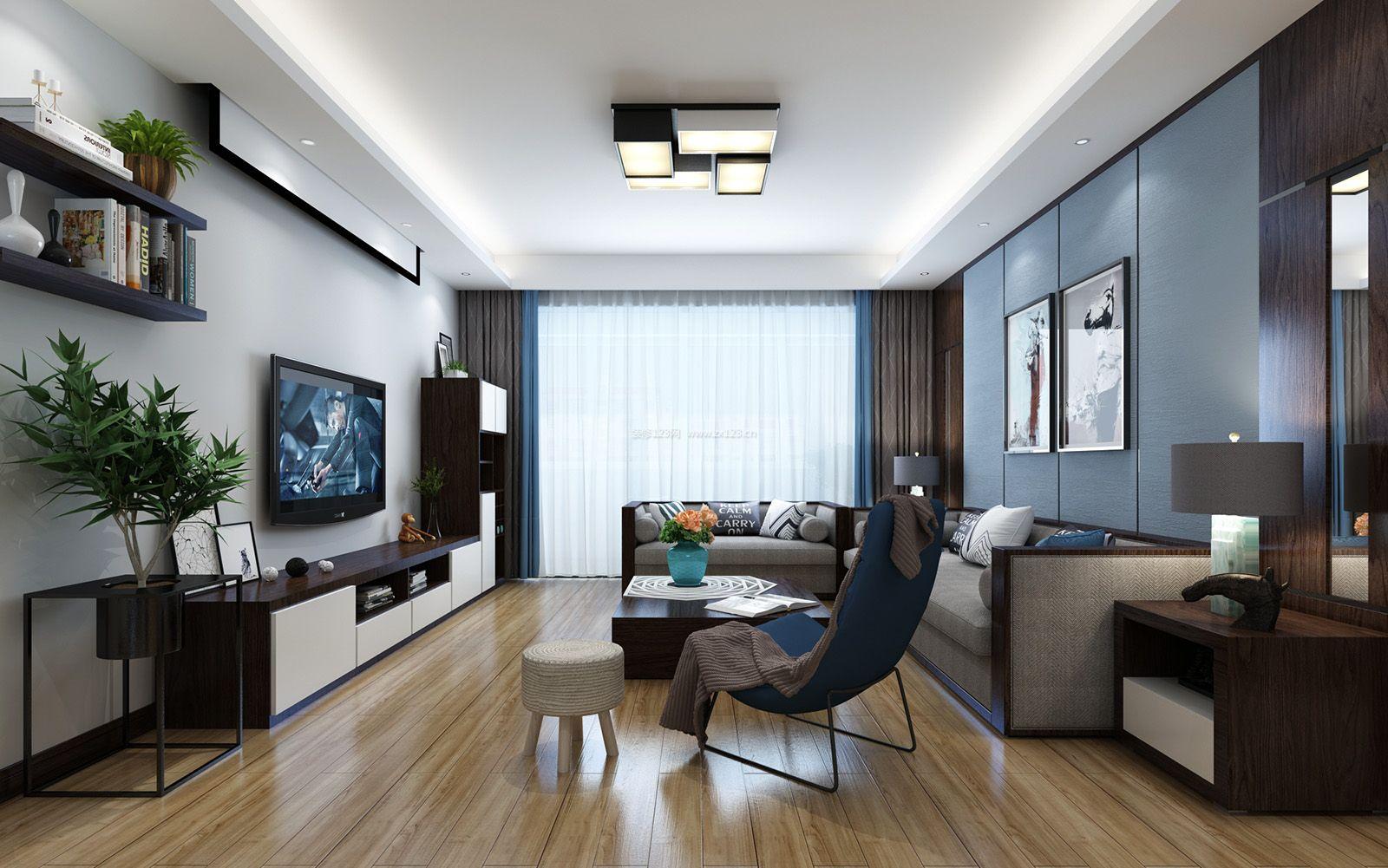 邳州邳州市东方帝景城现代风格美式风格120平米装修效果图案例图片