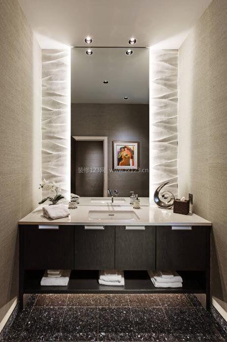 2017现代风格卫浴浴室柜装修效果图