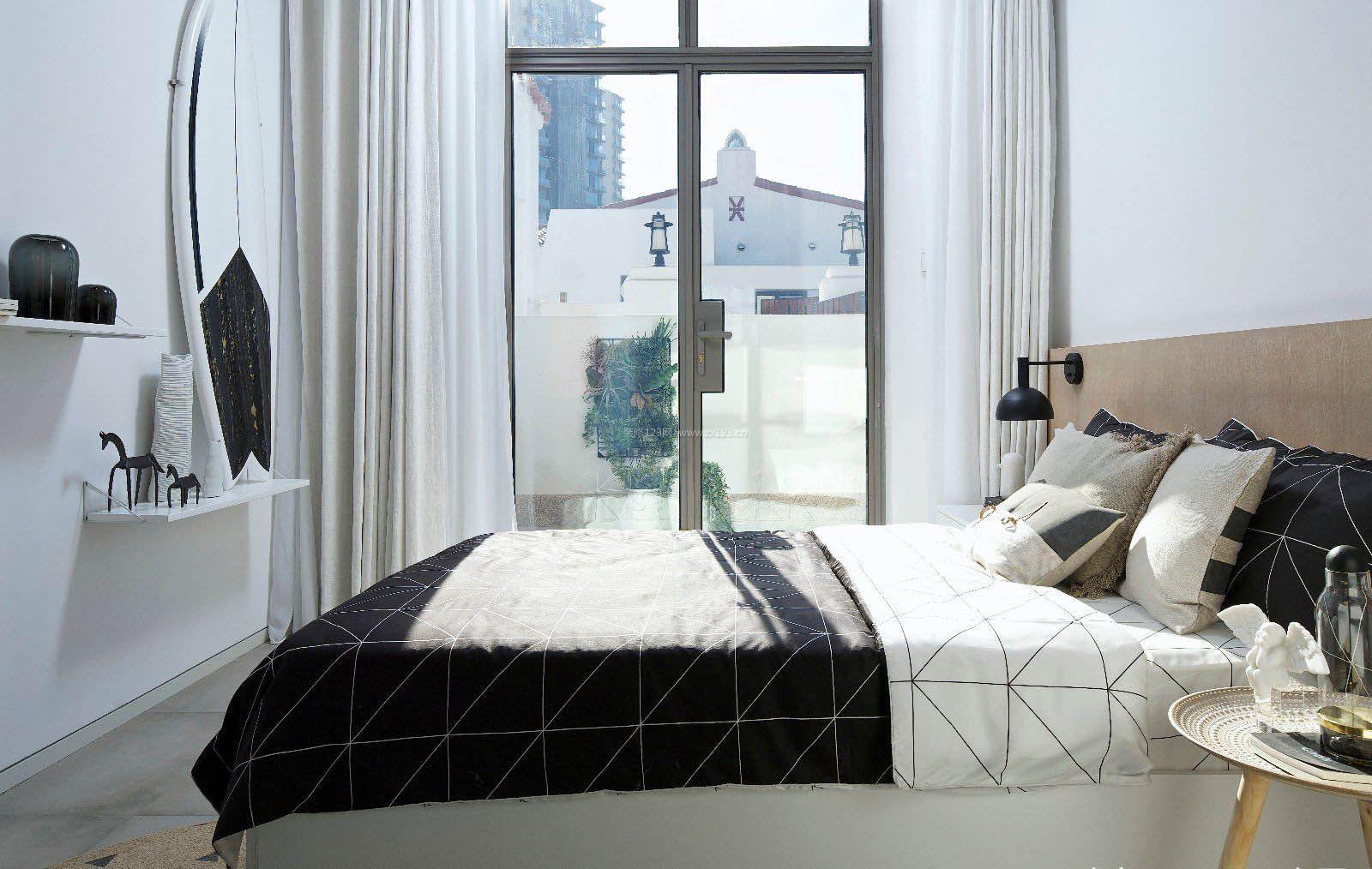 2017上海家居卧室落地窗装修图片
