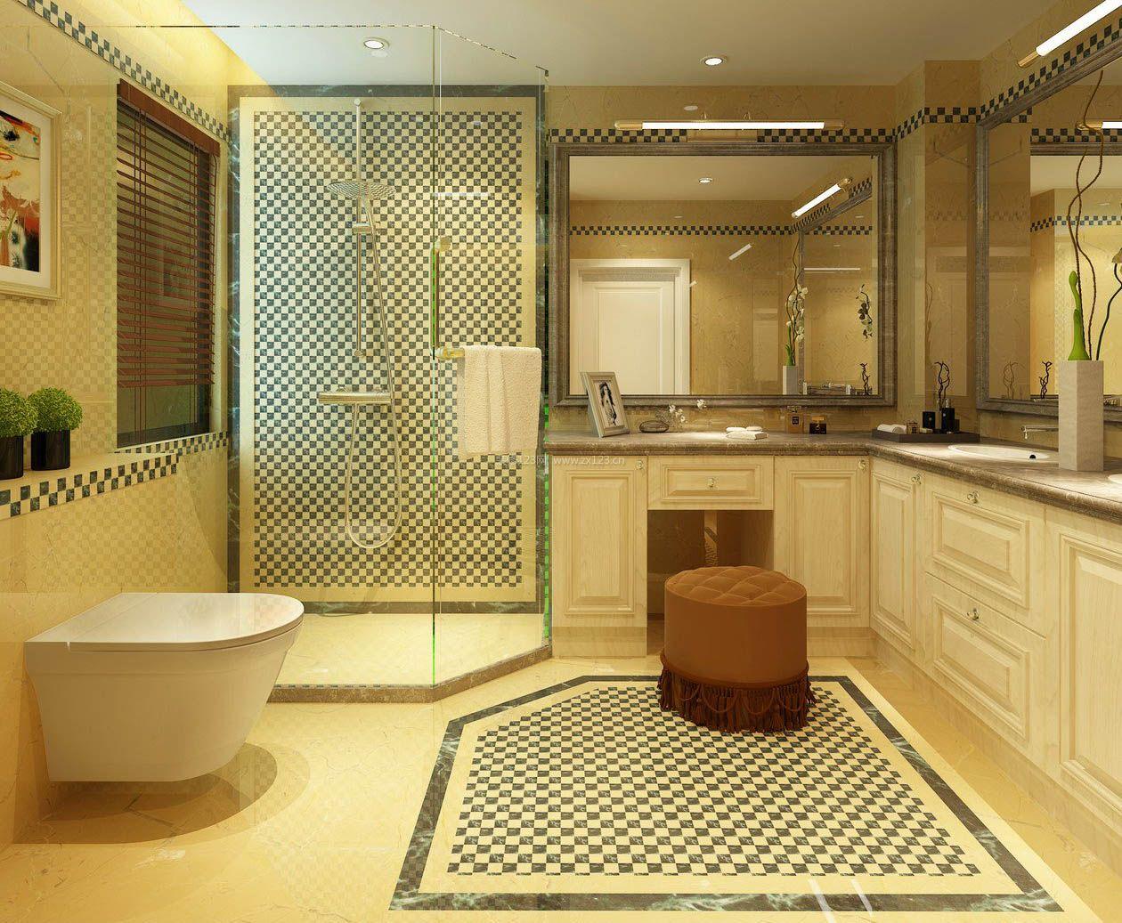 2017浴室整体淋浴房隔断玻璃效果图片_装修123效果图