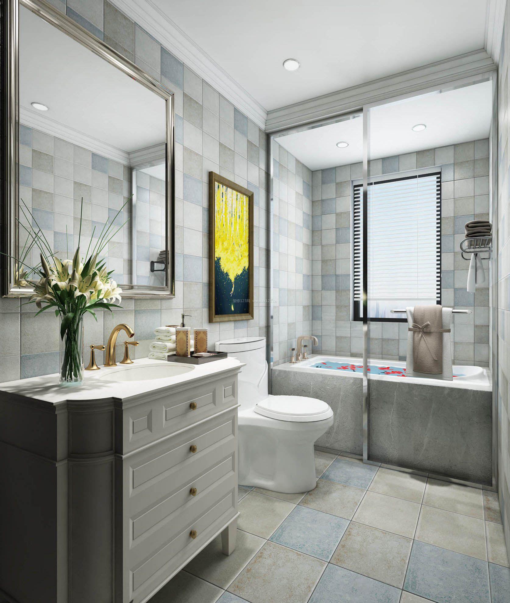 2017简欧小户型玻璃浴室效果图片图片