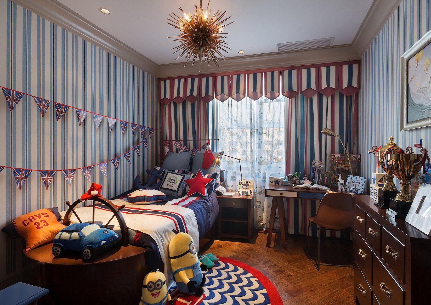 2017豪华美式卧室儿童房设计图片
