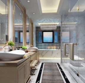 2020长方形玻璃浴室效果图片-每日推荐