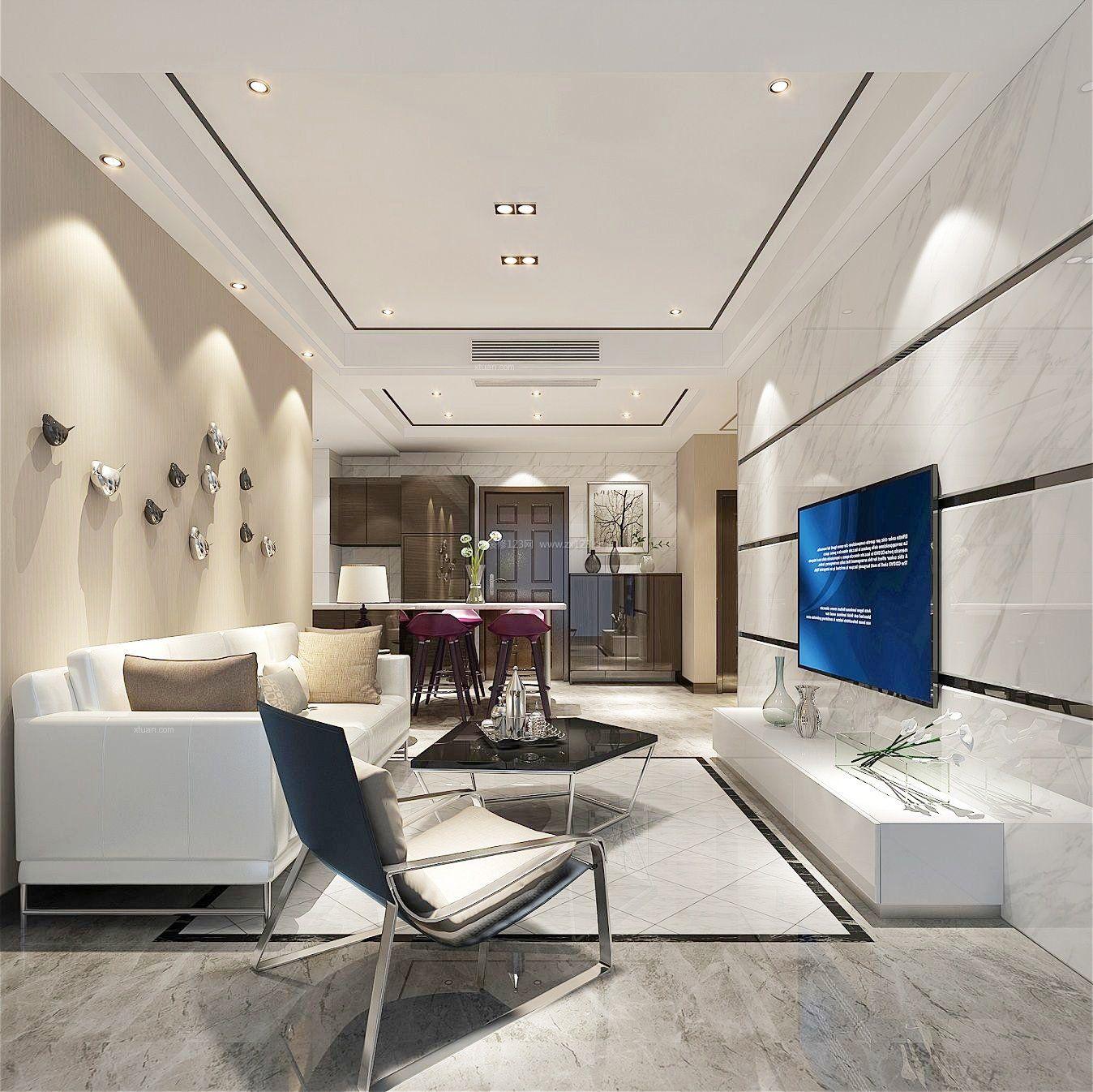 2017现代时尚港式风格装修客厅效果图