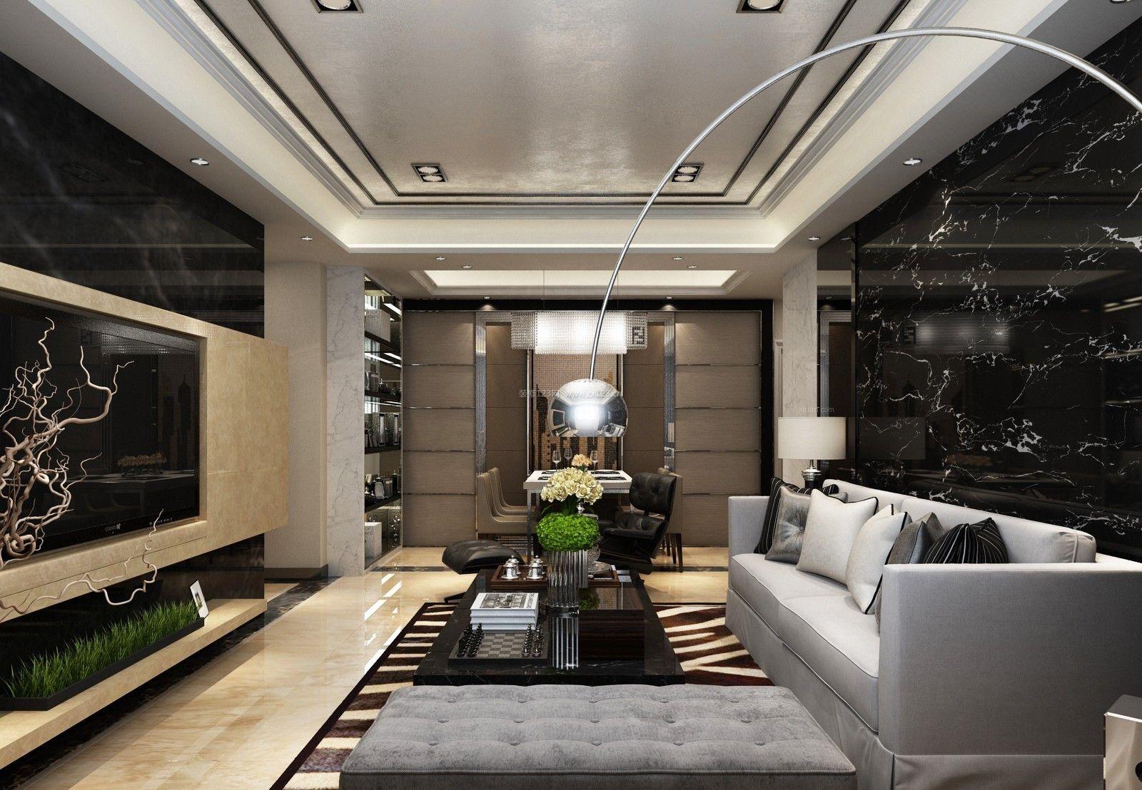 2017港式设计风格装修客厅效果图
