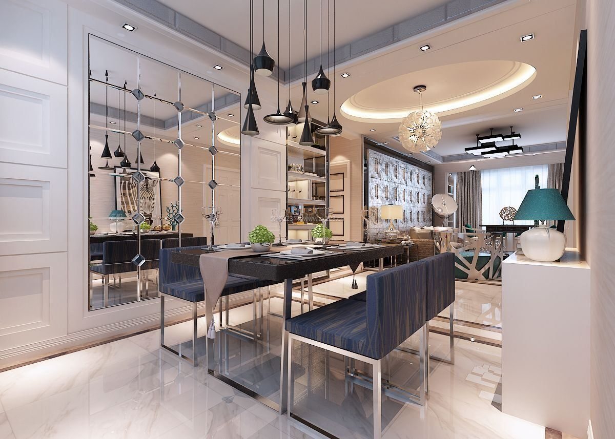 2017港式风格装修客厅设计效果图大全